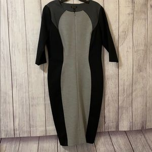 Escada black gray size 40/10 dress quarter sleeve